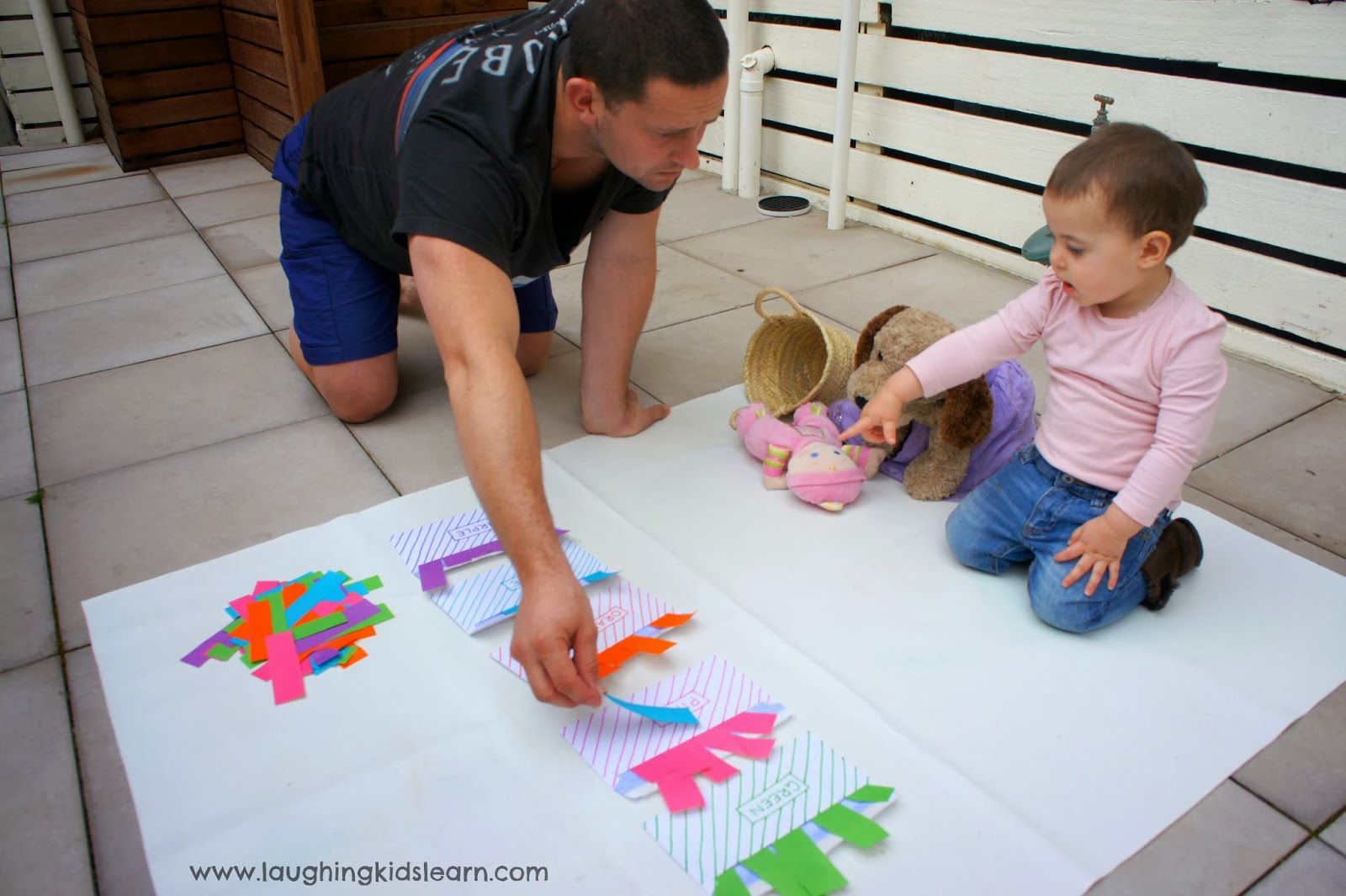 simple problem solving activities for kids using envelopes sorting colours colors - Colour Activities For Preschoolers
