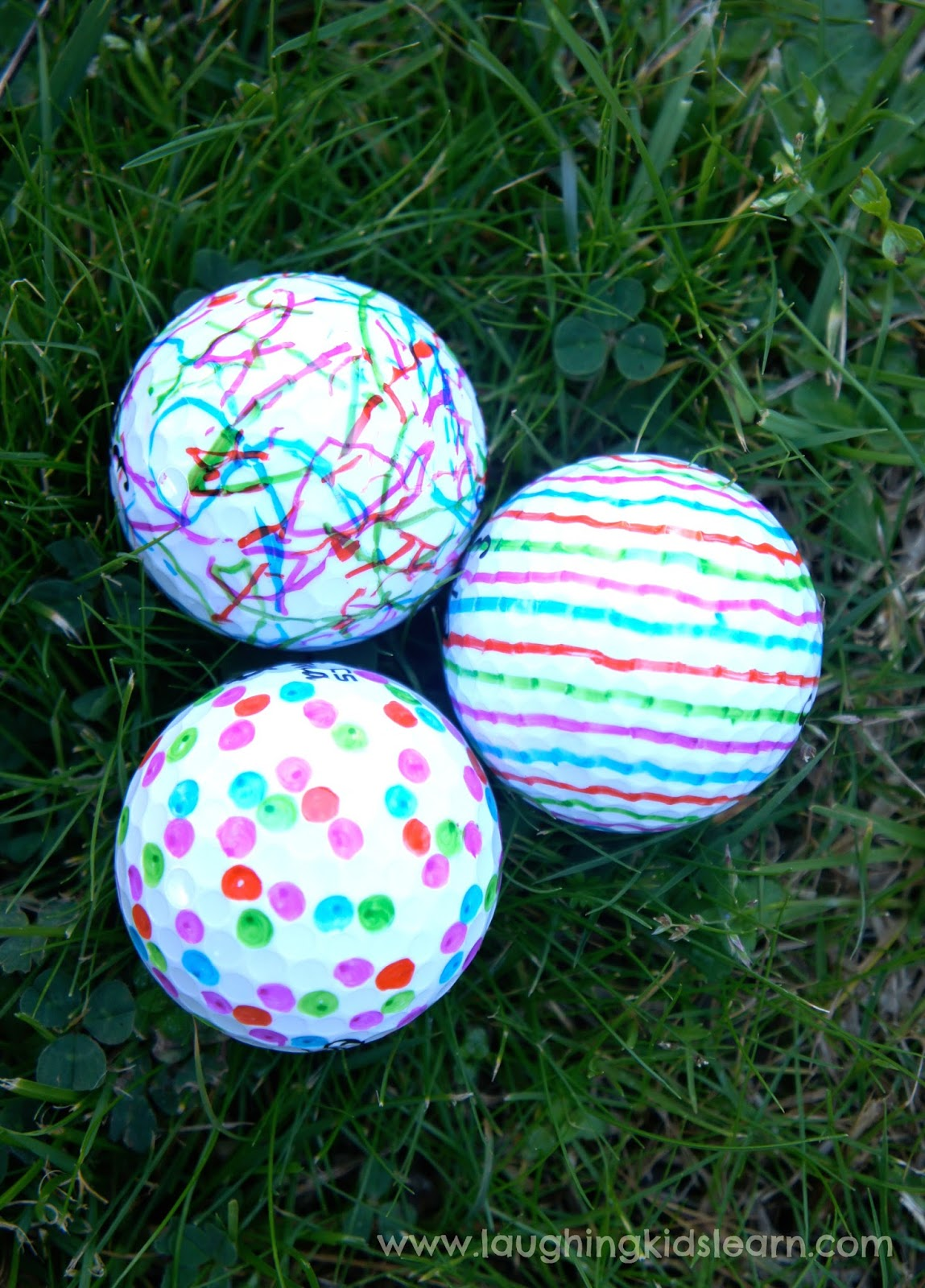 Golf Ball Decorations Decorating Golf Balls Laughing Kids Learn 1