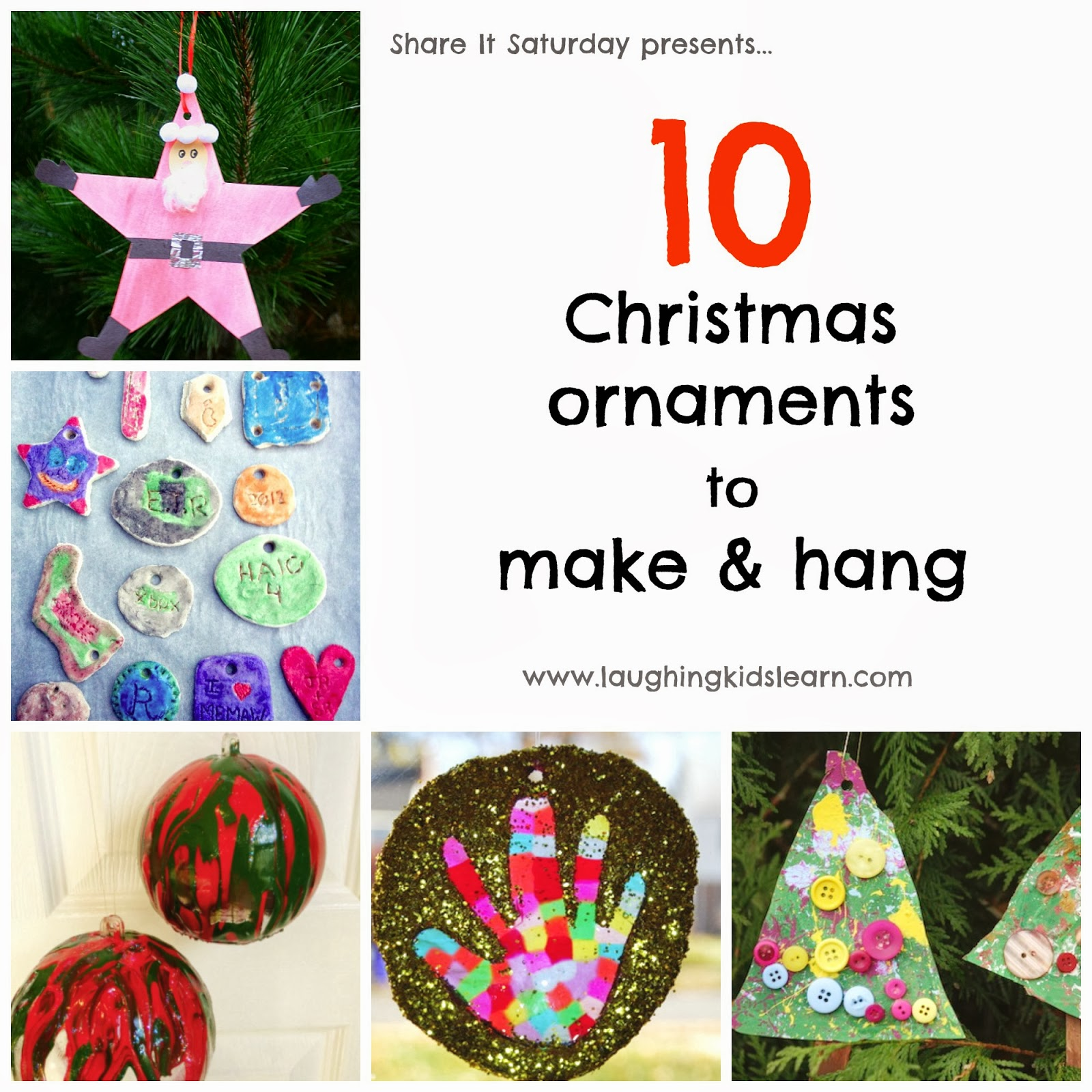 10 Christmas Ornaments to make & hang - Laughing Kids Learn