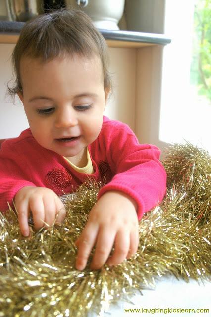 Christmas Tinsel play dough play dough for kids