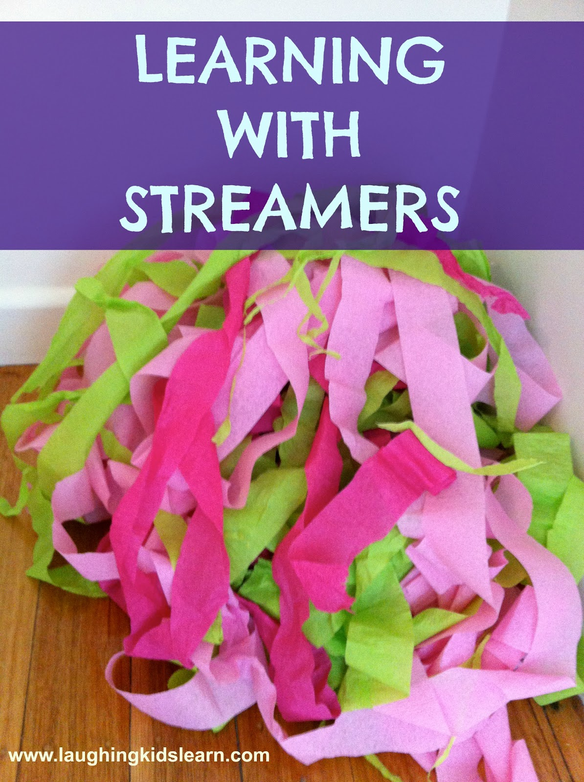 Children Learning With Streamers Laughing Kids Learn