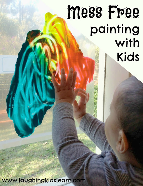 Mess free painting activity for children and kids of all ages.