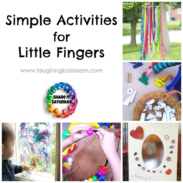 Simple Activities for Fine Motor and Little Fingers - Share It Saturday
