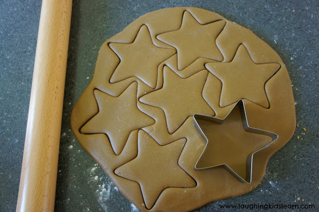 Gingerbread recipe that's great for Christmas. Can be made into ornaments. Laughing Kids Learn.
