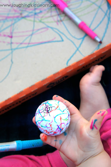 Decorating golf balls as a great father's day activity and gift